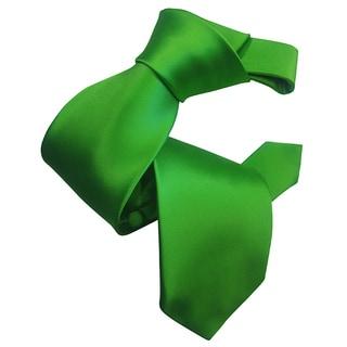 Dmitry Men's Kelly Green Solid Italian Silk Tie