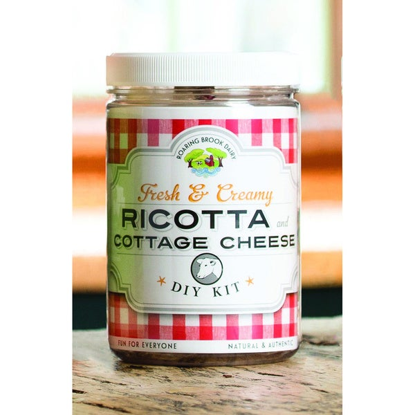 Roaring Brook Dairy Ricotta and Cottage Cheese DIY Kits (Set of 2)