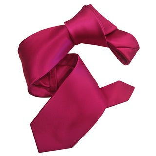 Dmitry Men's Fuchsia Pink Solid Italian Silk Tie