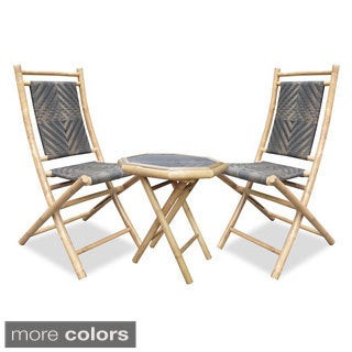 Heather Ann 3-piece Bamboo Bistro Set