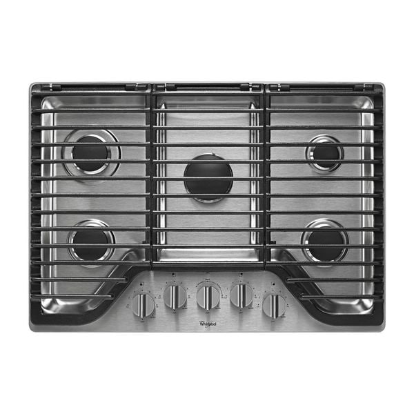 Whirlpool 36-inch 5 Burner Gas Cooktop
