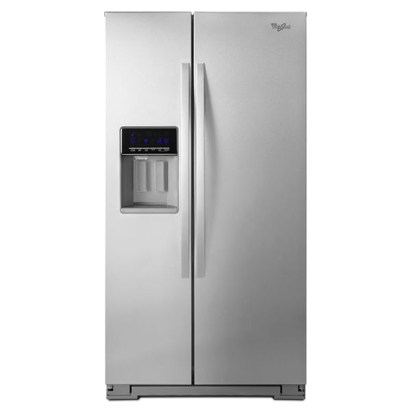 whirlpool 256 cubic feet side by side refrigerator image. Black Bedroom Furniture Sets. Home Design Ideas