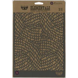 """Finnabair Stencil 7""""X9""""-Ripped Fishnet"""