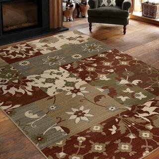 "Virtuous Collection Twisted Floral Multi Area Rug (5'3"" x 7'6"")"