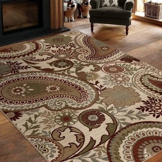 "Virtuous Collection Patron White Area Rug (5'3"" x 7'6"")"