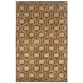 Majestic Natural Rectangle Geometric Area Rug (9' x 12'9)