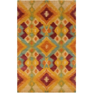 Majestic Multi Rectangle Geometric Area Rug (5' x 7'9)