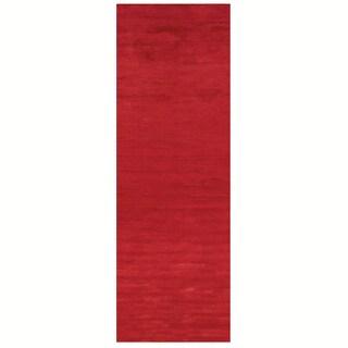 Satori Red Runner Solid Area Runner Rug (2'5 x 7'9)