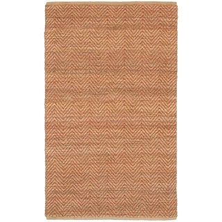 Natural Fiber Faroe Red Stripe Area Rug (9'2 x 12'6)