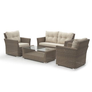 Causeway Bay Sofa 4-piece Collection Semi Round Rattan