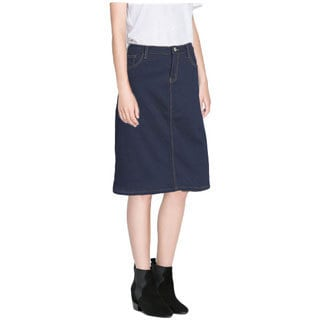 Tabeez Women's Fleece-Lined Denim Skirt