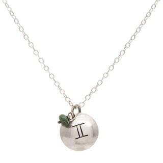 Gemini Sterling Silver Birthstone Necklace