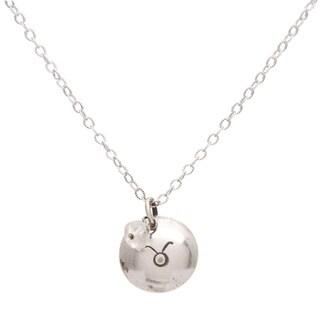 Taurus Sterling Silver Birthstone Necklace