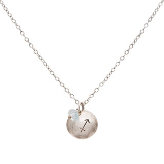 Sagittarius Sterling Silver Birthstone Necklace