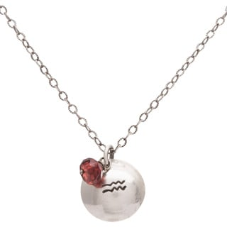 Aquarius Sterling Silver Birthstone Necklace
