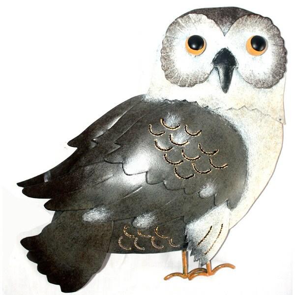 Iron Grey Owl Wall Decor (Indonesia)