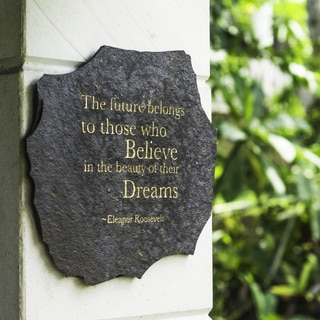Inspirational Quote by Eleanor Roosevelt on Volcanic Slate (Indonesia)