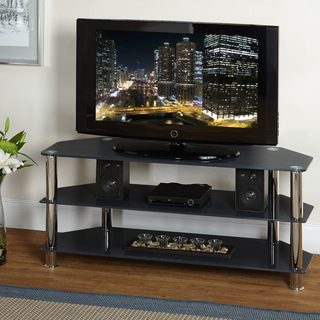 Simple Living Glass TV Stand