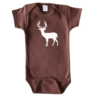 Rocket Bug Kid's Deer Silhouette Cotton Bodysuit