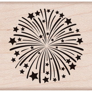 "Hero Arts Mounted Rubber Stamps 1.5""X1.75""-Fireworks"