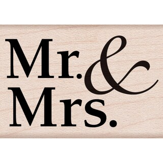 """Hero Arts Mounted Rubber Stamps 1.25""""x2"""" -Mr. & Mrs."""