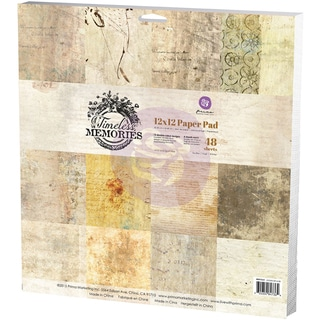 "Prima Marketing Paper Pad 12""X12""-Timeless Memories"
