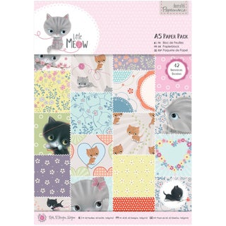 Papermania Paper Pack A5 42/Pkg-Little Meow