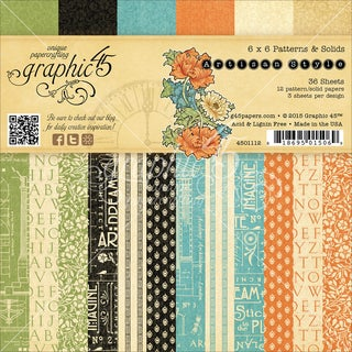 "Graphic 45 Paper Pad 6""X6"" 36/Pkg-Artisan Style"