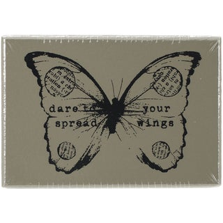 "Finnabair Wood Mounted Stamps 2.5""X1.75""-Butterfly 2"