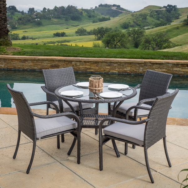 Christopher Knight Home San Pico Outdoor Wicker 5 piece