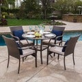 Christopher Knight Home San Pico Outdoor Wicker 5-piece Dining Set with Cushions