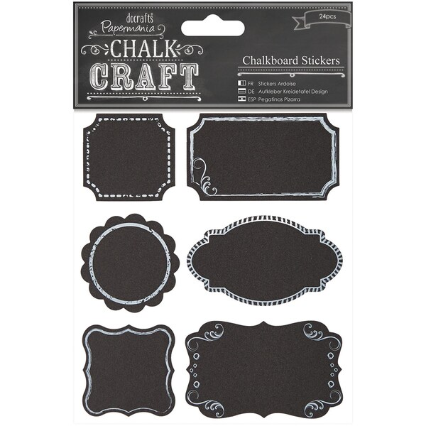 Chalk Craft Chalkboard Stickers 24/Pkg-Frames