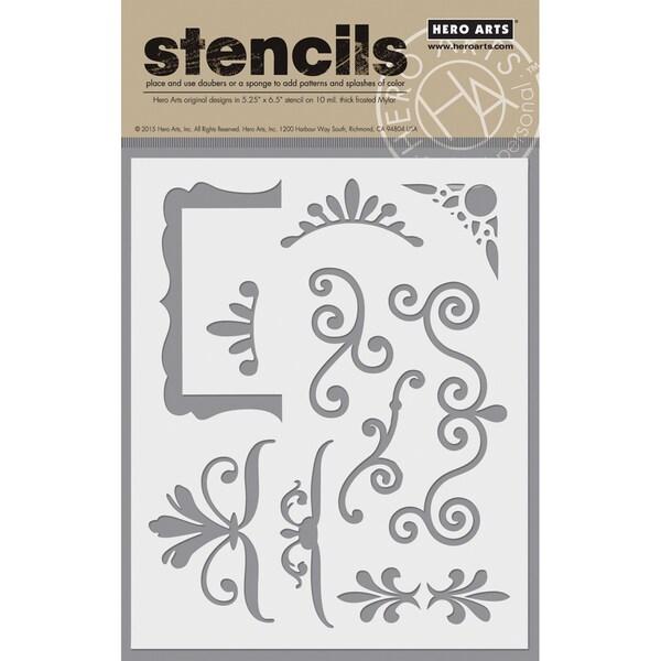 "Hero Arts Stencils 6.25""X5.25""-Vintage Frames"