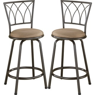 Austin Metal Counter Height Stool With Upholstered Seat