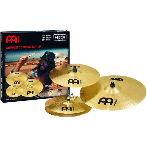 Meinl Cymbals HCS141620 Matched Cymbal Set Pack: 14-inch Hi Hat, 16-inch Crash, 20-inch Ride