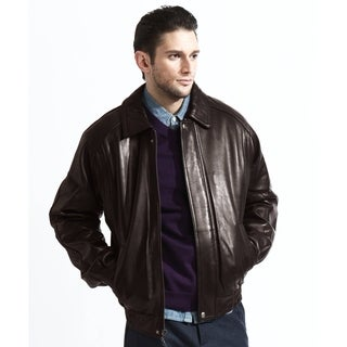 Tanners Avenue Brown (Medium) Lambskin Leather Bomber Jacket