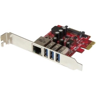 StarTech.com 3 Port PCI Express USB 3.0 Card + Gigabit Ethernet