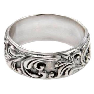 Handcrafted Sterling Silver 'Flourishing Foliage' Ring (Indonesia)