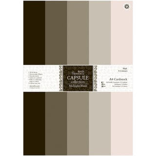 Papermania Midnight Blush A4 Cardstock 50/Pkg