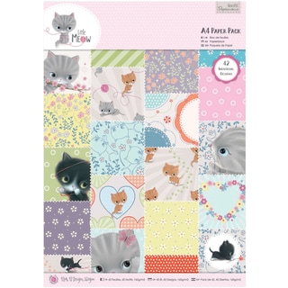 Papermania Paper Pack A4 42/Pkg-Little Meow