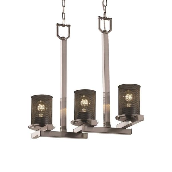 Justice Design Group Dakota 3-light Chandelier, Brushed Nickel