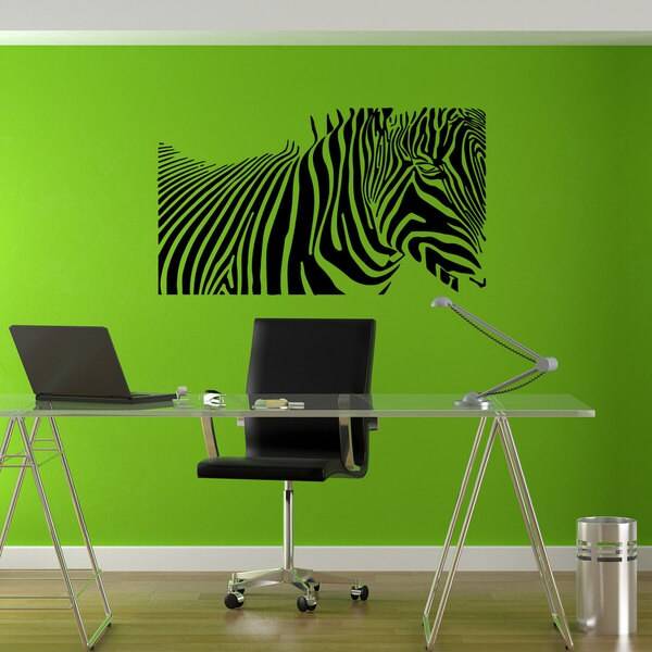 Zebra Print Zebra Stripes Sticker Vinyl Wall Art