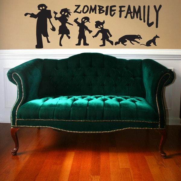 Zombie Family Stick Figure Sticker Vinyl Wall Art