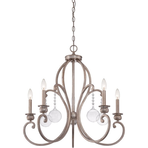 Ambrose Vintage 5-light Gold Chandelier
