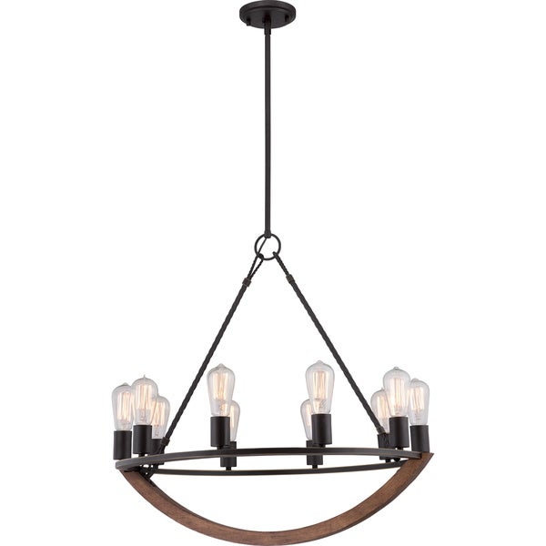 Anchor 10-light Imperial Bronze Chandelier