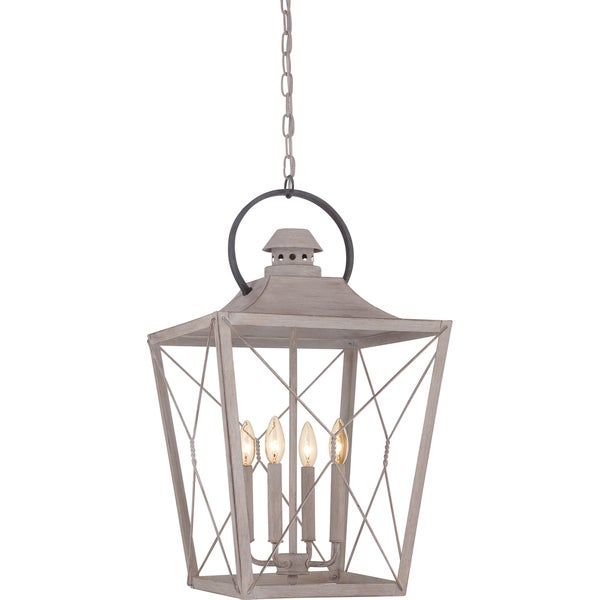 Cabin 4-light Latte Cage Chandelier