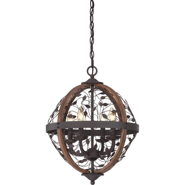 Chamber 4-light Darkest Bronze Cage Chandelier