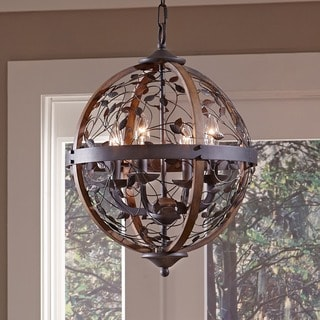 Chamber 4-light Darkest Bronze Cage Chandelier