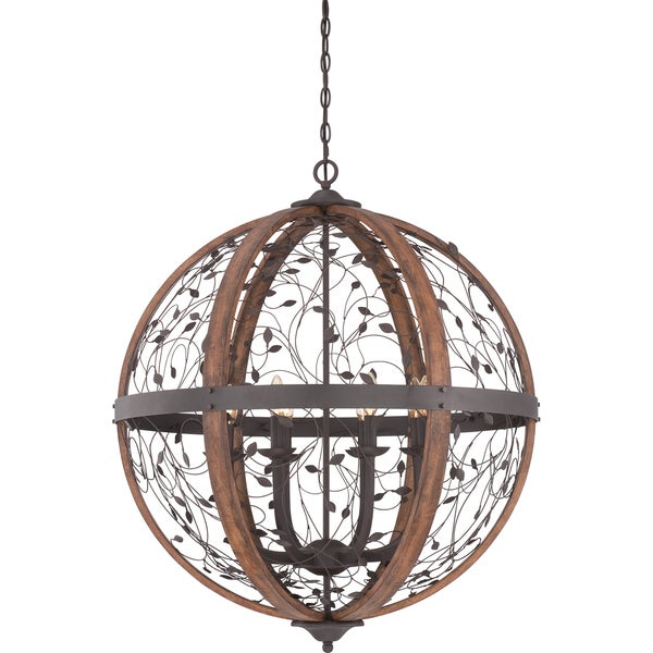 Chamber 8-light Darkest Bronze Cage Chandelier