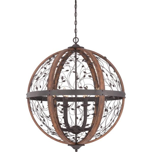 Chamber 8-light Darkest Bronze Cage Chandelier